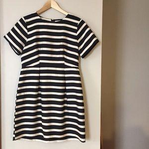 H&M Black and White Striped Dress